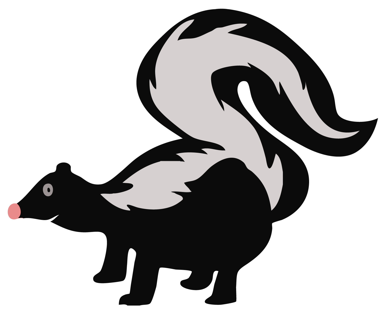 Cute valentine skunk clipart black and white png transparent library Cute valentine skunk clipart black and white - ClipartFest png transparent library