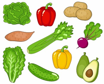 Vegggies clipart jpg royalty free download Vegetables Clip Art, Cute Veggies Clipart 2, Digital Clip Art jpg royalty free download
