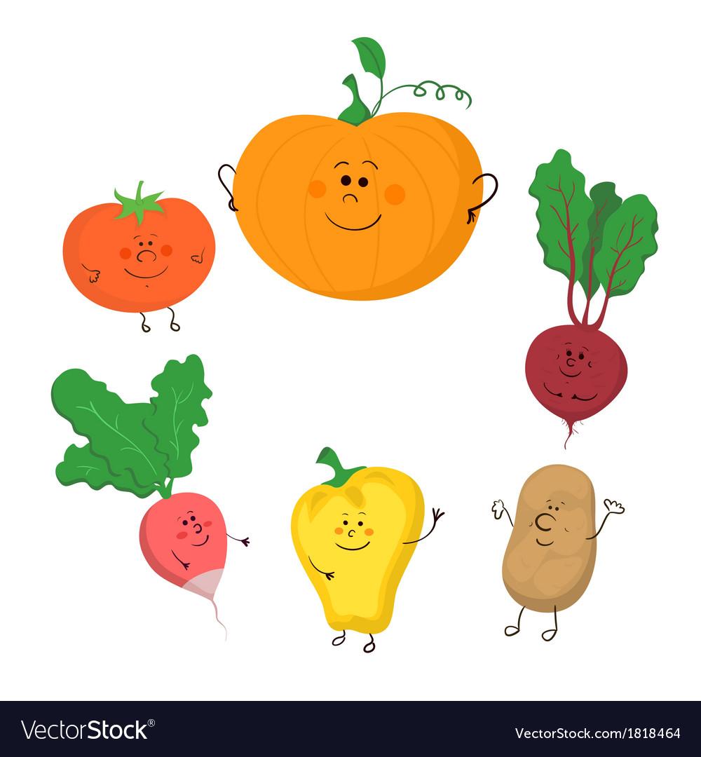Cute vegetables clipart clipart download Cute funny vegetables set clipart download