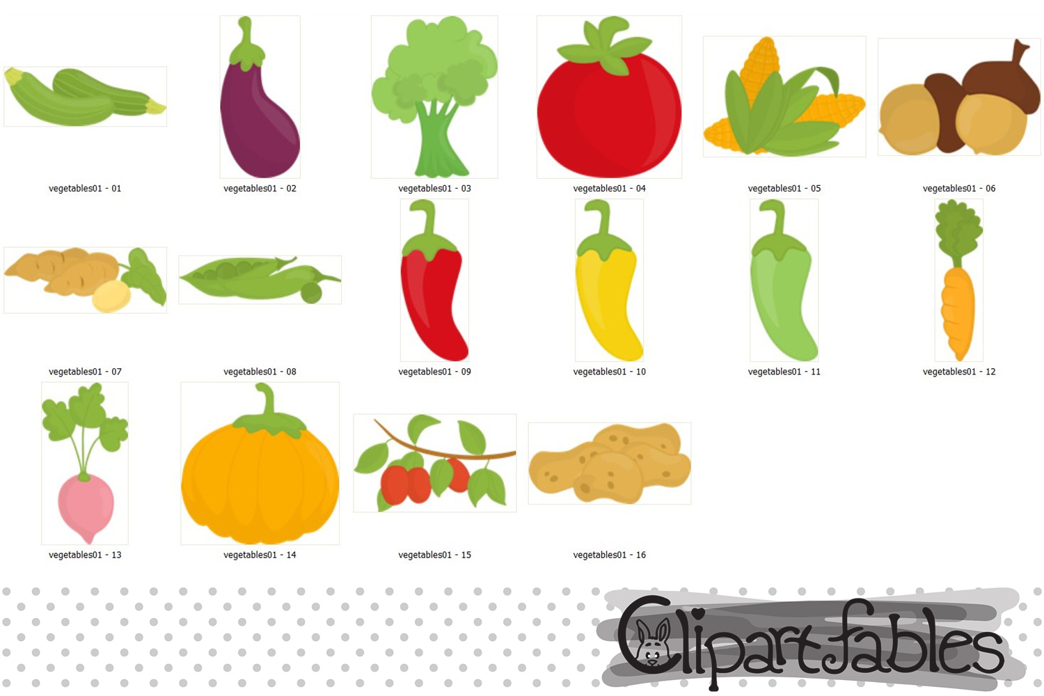 Cute vegetables clipart clipart library library Cute Vegetables clipart - instant download, digital clipart clipart library library