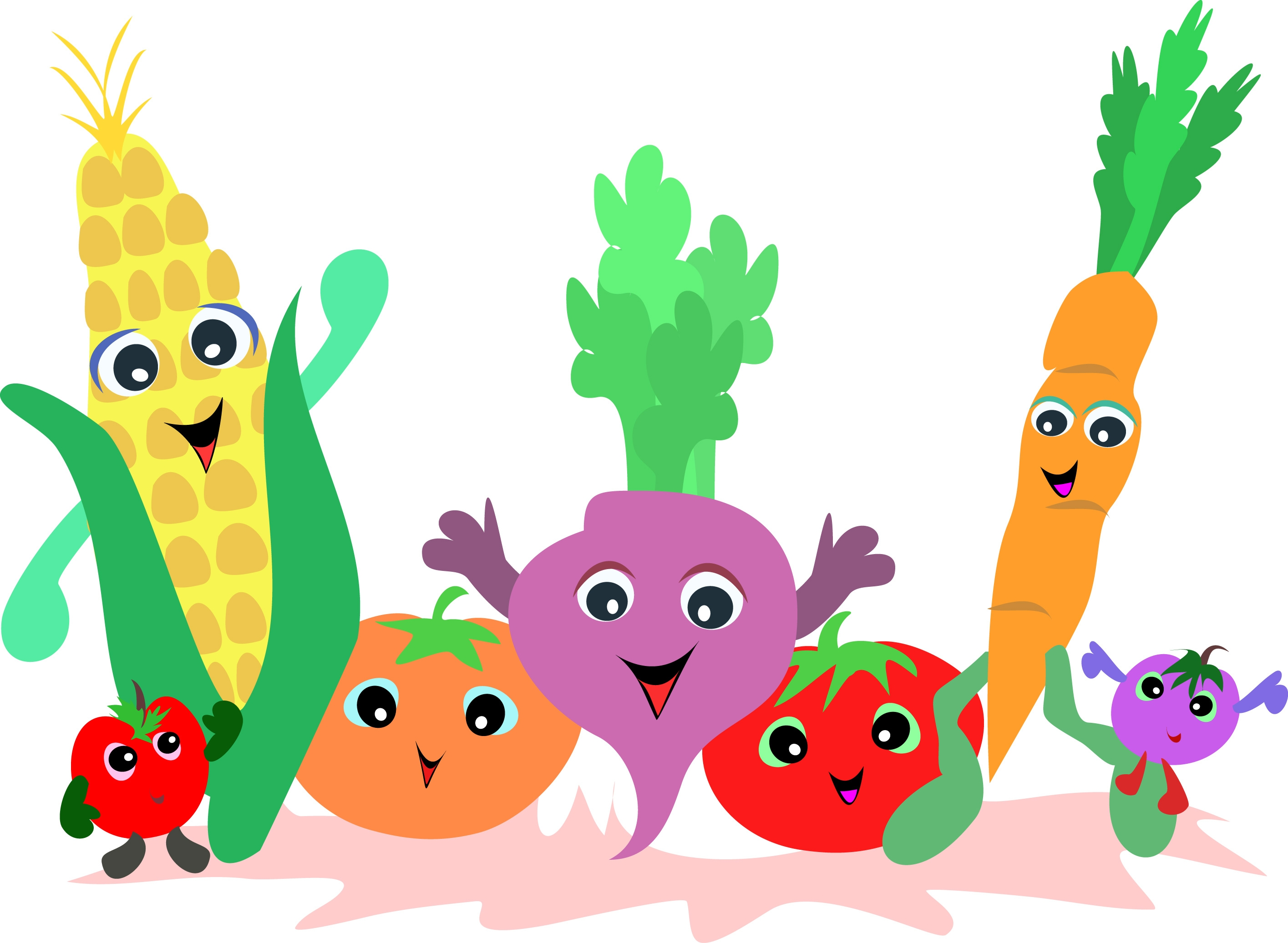 Cute vegetables clipart jpg library download Free Cute Veggie Cliparts, Download Free Clip Art, Free Clip Art on ... jpg library download
