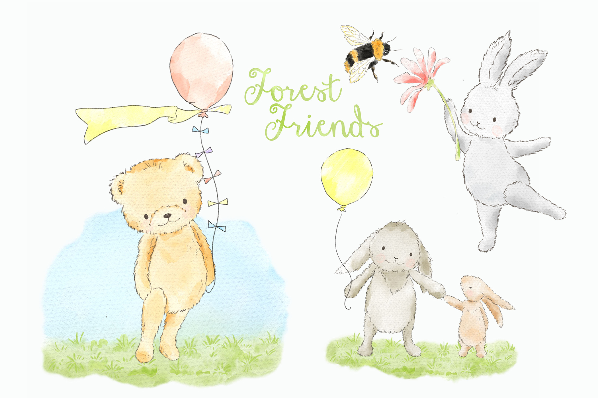 Cute woodland animals clipart png royalty free stock Forest Woodland Animals Clipart Graphic png royalty free stock
