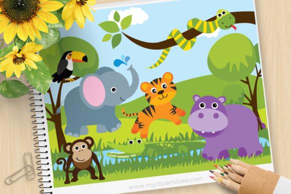 Cute zoo animals clipart clip art library stock Savannah Zoo Animal Clipart clip art library stock