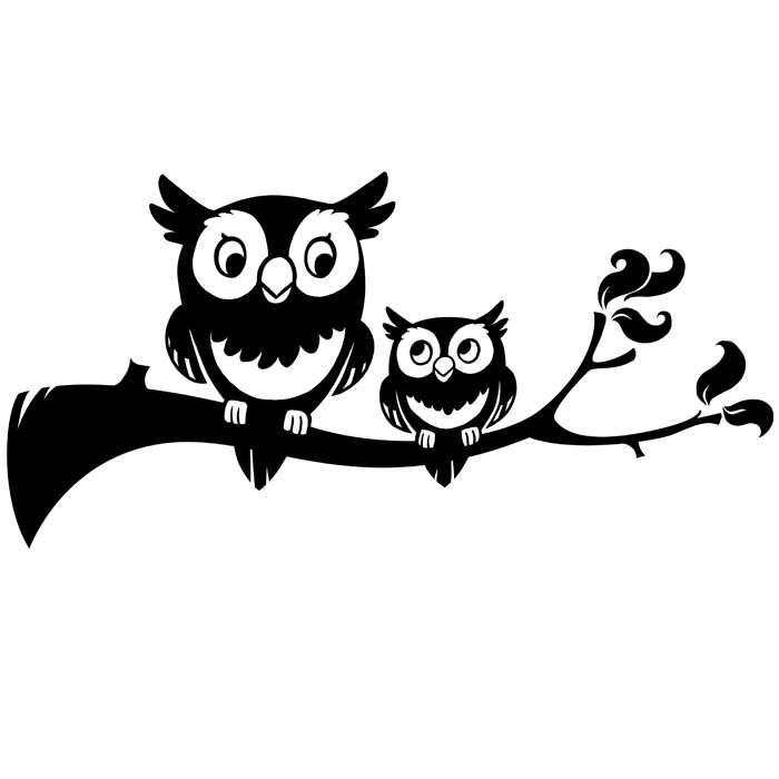 Cuteowl clipart black and white on a branch clip freeuse cute owl clipart black and white - Buscar con Google ... clip freeuse