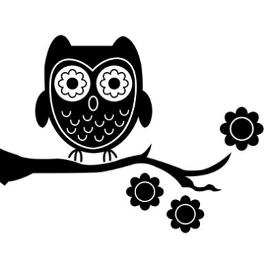 Cuteowl clipart black and white on a branch png black and white download Free White Owl Cliparts, Download Free Clip Art, Free Clip ... png black and white download