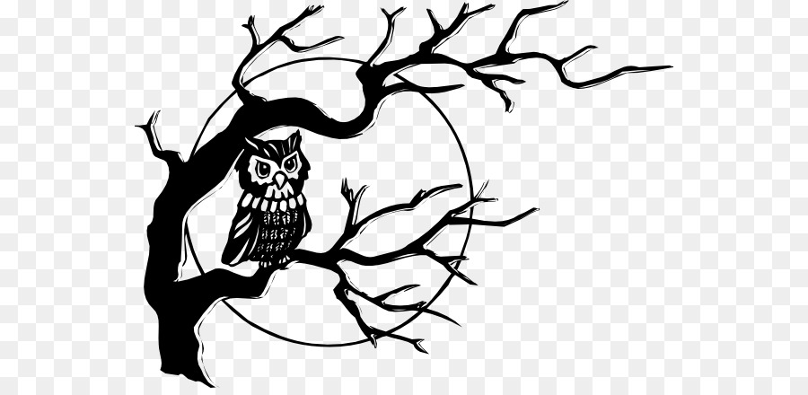 Cuteowl clipart black and white on a branch clip art black and white library Black And White Flower png download - 600*432 - Free ... clip art black and white library