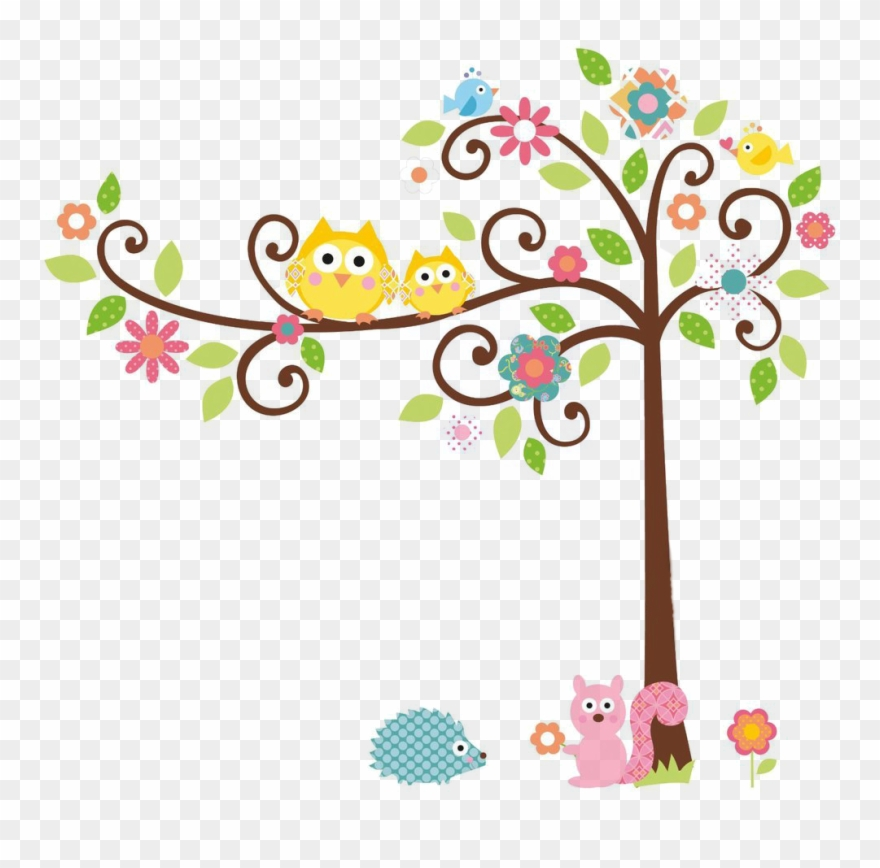 Cuteowl clipart black and white on a branch svg free stock Cute Owl On Tree Clipart Rigybdoil Copy - Colorful Owl On ... svg free stock