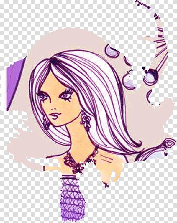 Cuts clipart vector Stuff Magazine Cuts, purple-haired female sticker ... vector