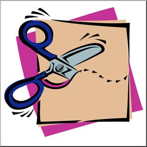 Cutting clipart transparent stock Clip Art: Scissors: Cutting Wavy Color I abcteach.com   abcteach transparent stock