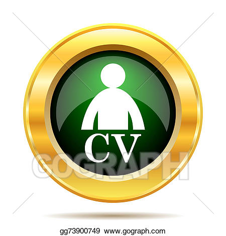 Cv icon clipart jpg transparent library Stock Illustration - Cv icon. Clipart Illustrations ... jpg transparent library