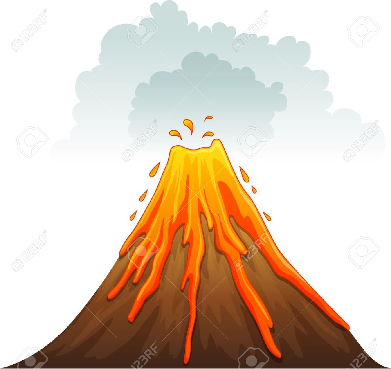 Valcaino clipart png free library 33+ Volcano Clipart | ClipartLook png free library