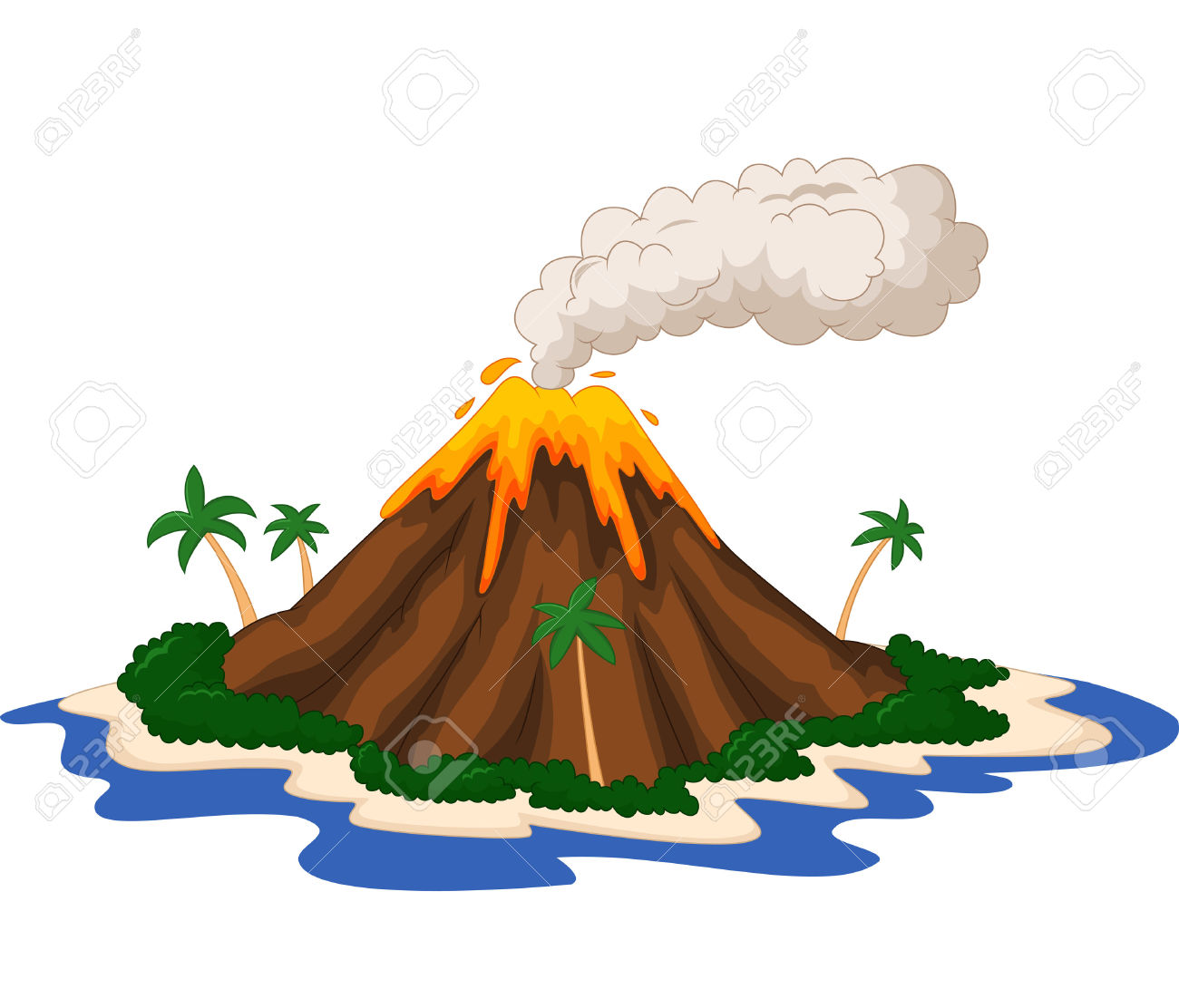 Volcano border clipart svg free stock Best Volcano Clipart #5075 - Clipartion.com svg free stock