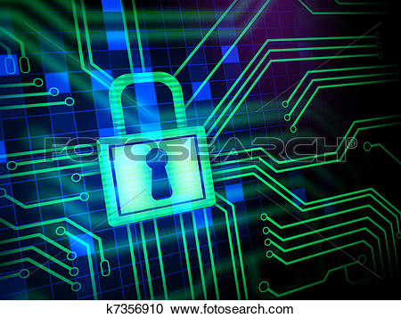 Stock illustrations of k. Cyber security clipart free