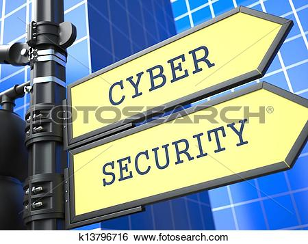 Cyber security clipart free clipart Stock Illustration of Business Concept. Cyber Security Sign ... clipart
