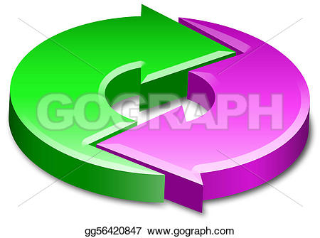 Cycle arrow clip art svg freeuse stock Stock Illustration - Cycle process circle arrows 3d. Clip Art ... svg freeuse stock