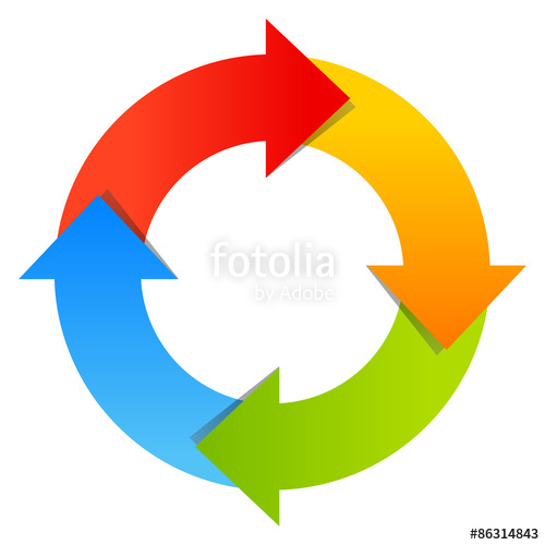 Four part stock image. Cycle arrow clipart coreldraw