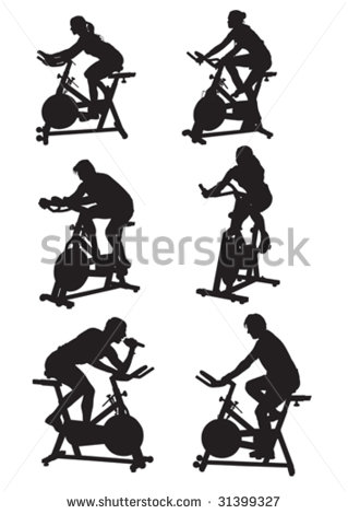 Cycle class clip art clip black and white Spinning class clipart - ClipartFest clip black and white