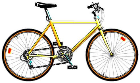 Cycle clipart png svg freeuse library bicycle yellow - /transportation/bicycle/bicycle_yellow.png.html svg freeuse library