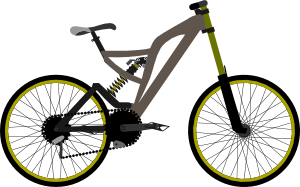 Cycle clipart png svg black and white stock Mountain Bike Clip Art at Clker.com - vector clip art online ... svg black and white stock