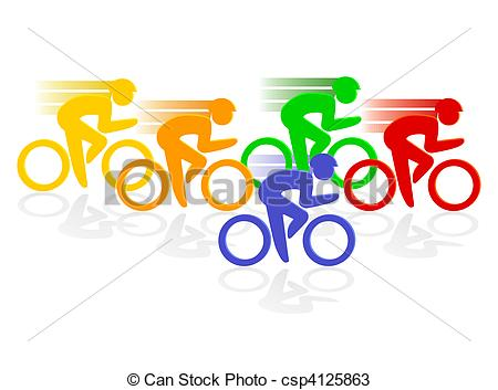 Cycle race clipart clip black and white library Clip Art of cycle racing csp4125862 - Search Clipart, Illustration ... clip black and white library