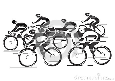 Cycle race clipart png free library Peleton Cycle Race Stock Illustration - Image: 38811367 png free library