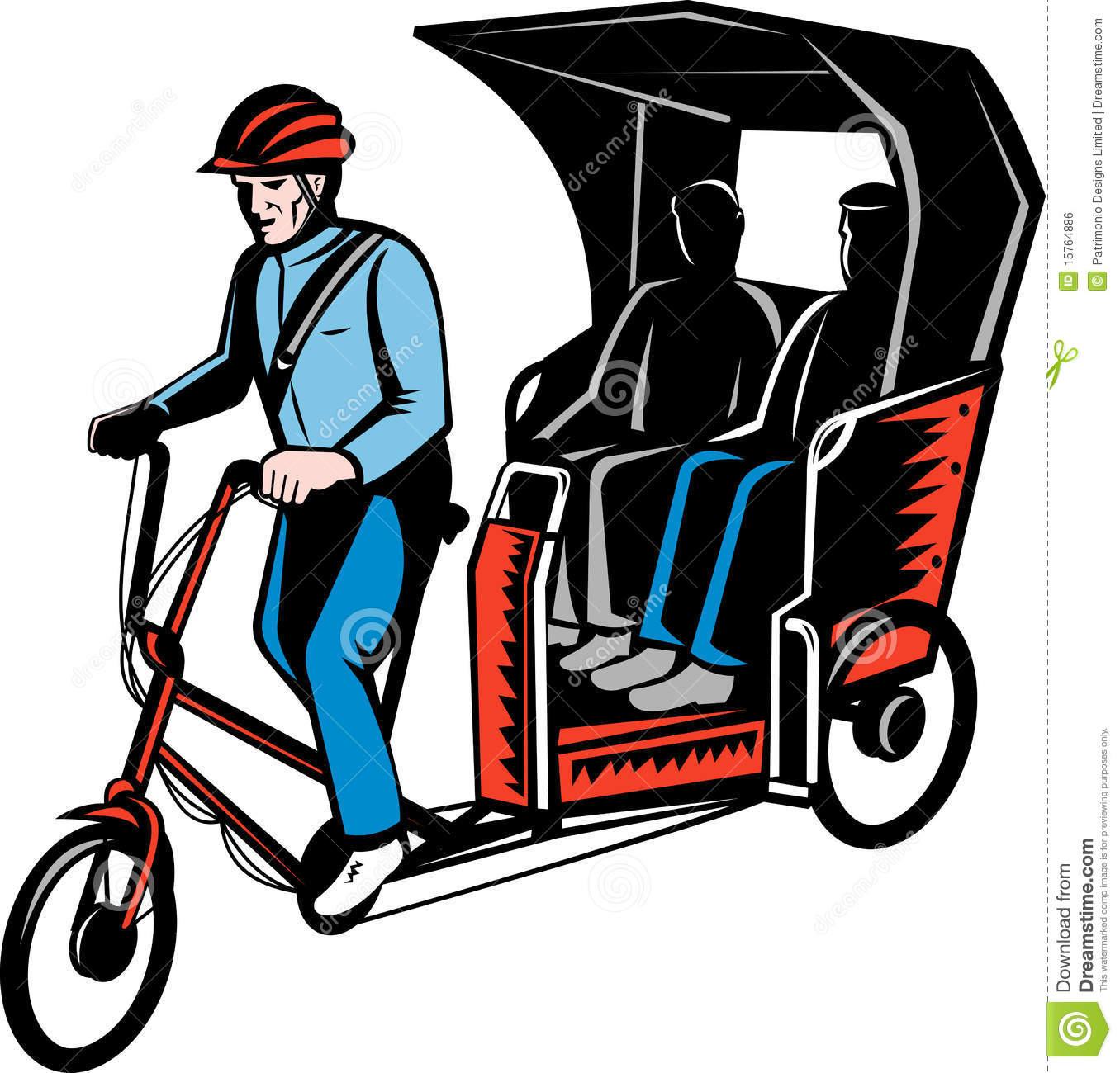 Cycle rickshaw clipart. Clipartfest driver