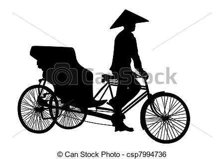 Cycle rickshaw clipart. Illustrations and royalty free