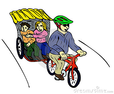 Cycle rickshaw clipart image library Cycle Rickshaw Stock Illustrations – 69 Cycle Rickshaw Stock ... image library