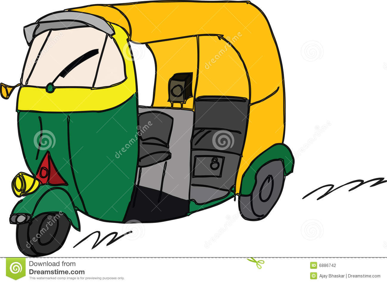 Stock illustrations photography. Cycle rickshaw clipart