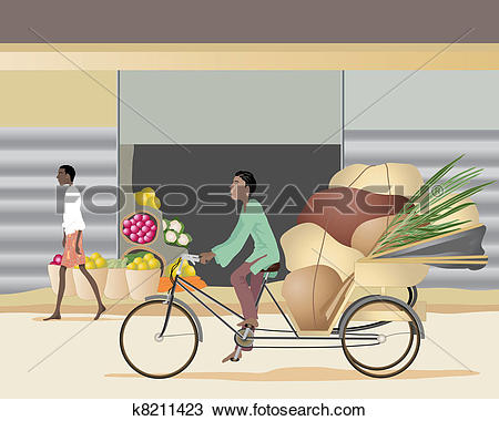 Of k search clip. Cycle rickshaw clipart