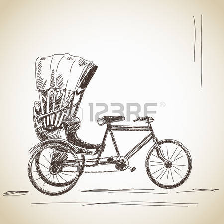 Cycle rickshaw clipart jpg transparent library 165 Cycle Rickshaw Stock Vector Illustration And Royalty Free ... jpg transparent library