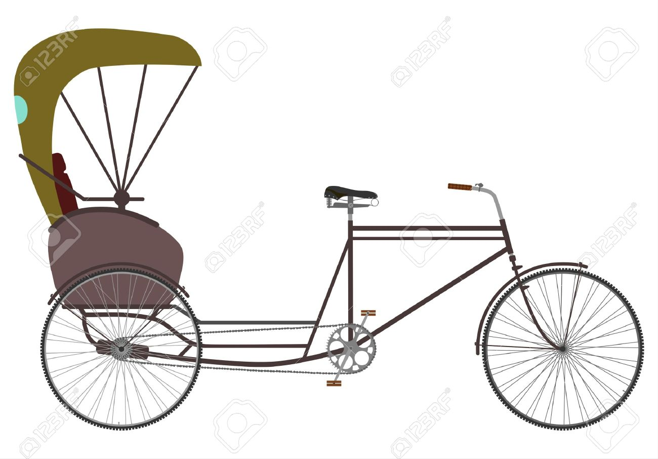 Cycle rickshaw clipart. Clipartfest an empty bicycle