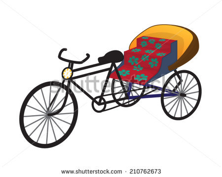 Stock images royalty free. Cycle rickshaw clipart