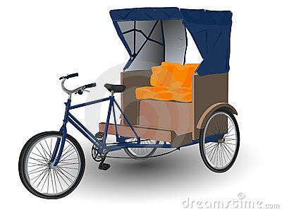 Cycle rickshaw clipart