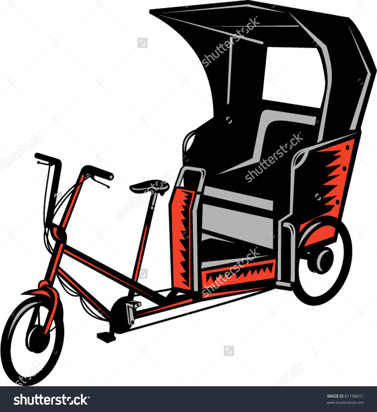 Cycle rickshaw clipart clip transparent stock Vector Illustration Cycle Rickshaw Isolated On Stock Vector ... clip transparent stock