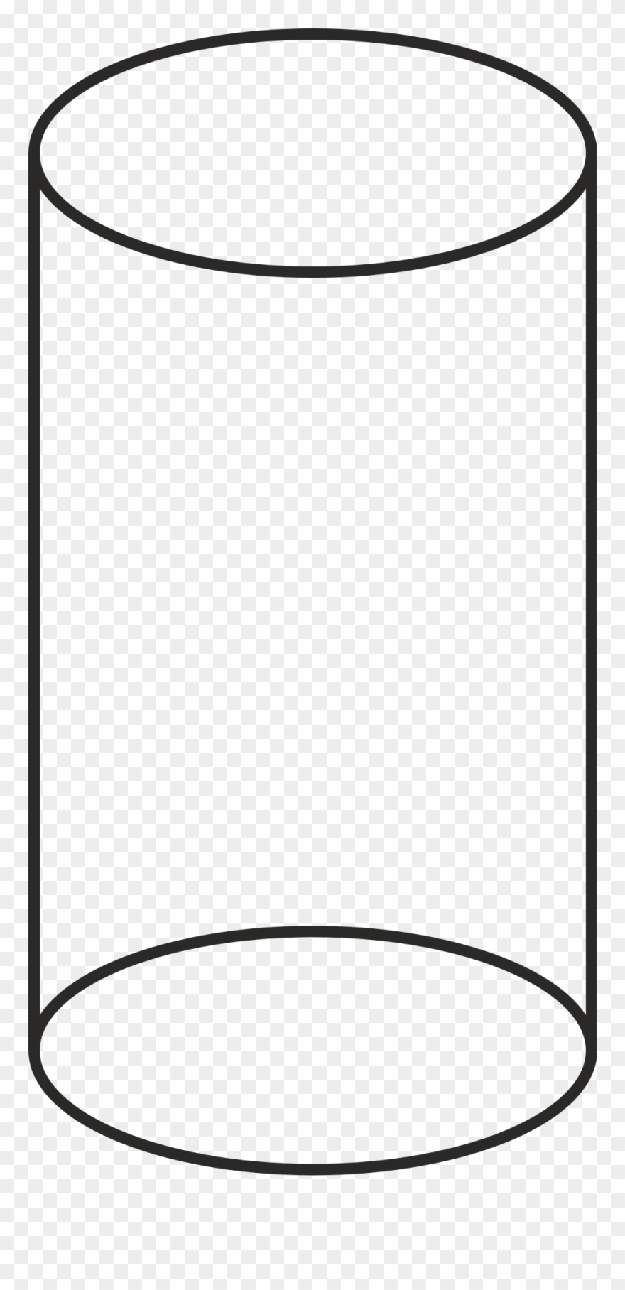 White cylinder clipart jpg freeuse library Volume Cilinder Vector - Cylinder Shape Black And White Clipart ... jpg freeuse library