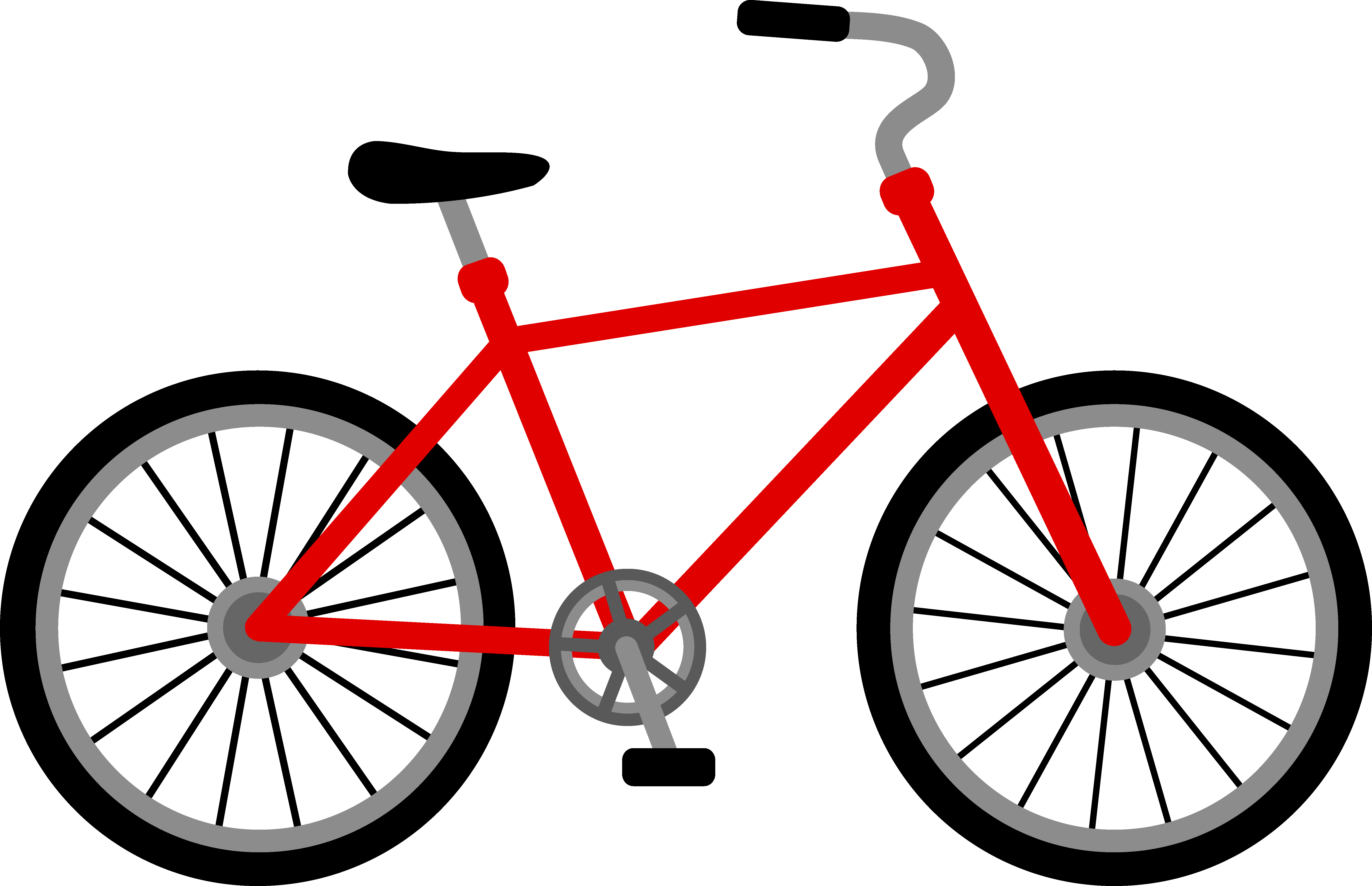 Free cycling clipart images. Bike clip art pictures
