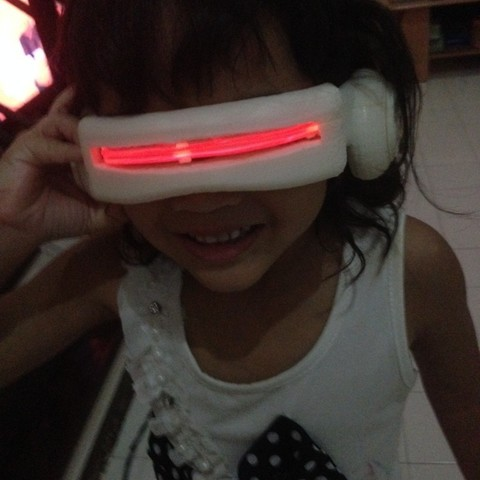 Cyclops visor clipart graphic stock Download free STL file 90\'s Cyclops Visor ・ Cults graphic stock