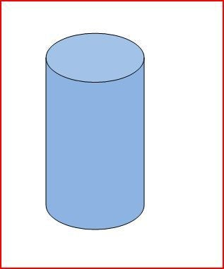Cylinder filled 2 3 with water clipart image royalty free download Volume of a Cylinder: 5 Steps image royalty free download