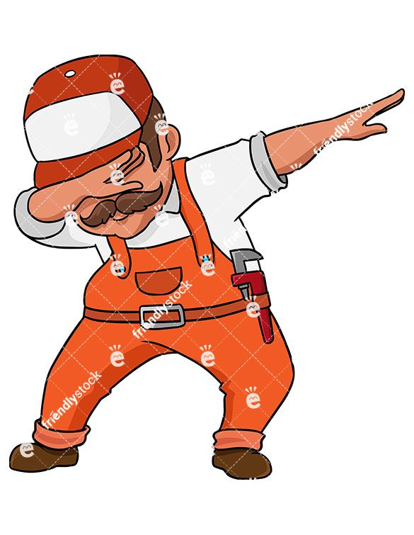 Dab vector clipart png library library Dabbing Plumber | pro flo ideas in 2019 | Vector clipart, Free ... png library library