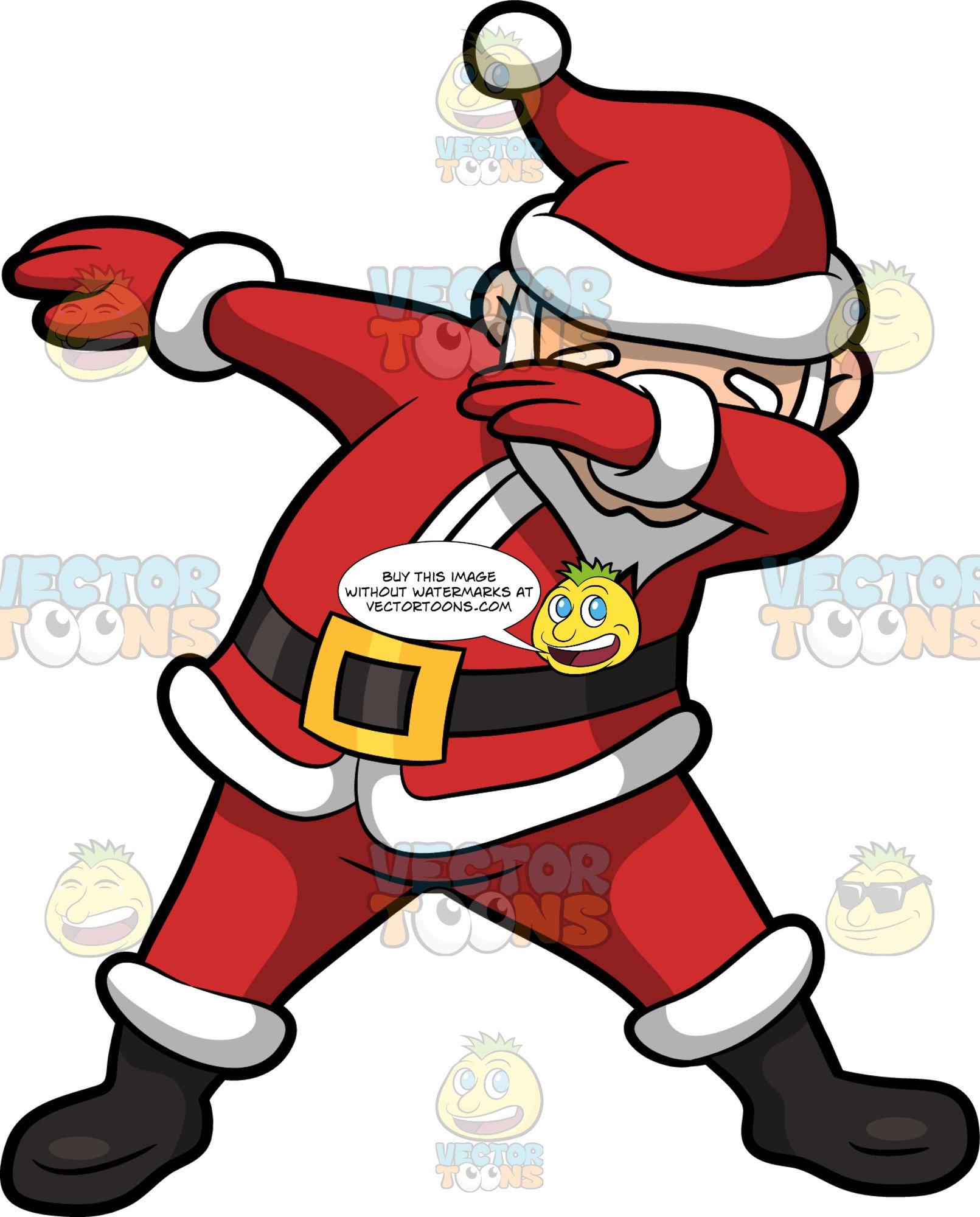 Dabbing santa clipart