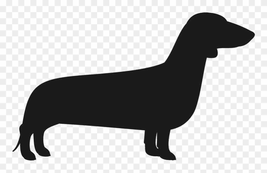 Dachshund silhouette clipart picture transparent library Dachshund Silhouette Png - Wiener Dog Png Transparent Clipart ... picture transparent library