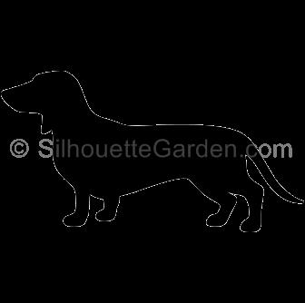 Dachshund silhouette clipart clip library stock Dachshund Silhouette clip library stock