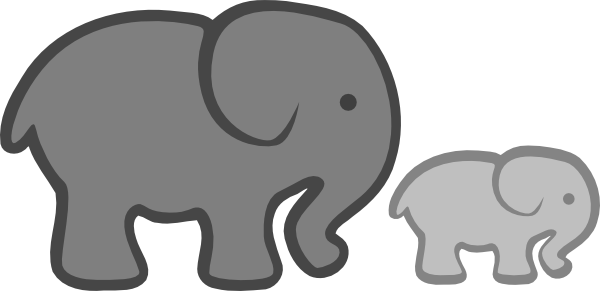 Grey elephant clipart svg stock Free Baby Elephant Outline, Download Free Clip Art, Free Clip Art on ... svg stock