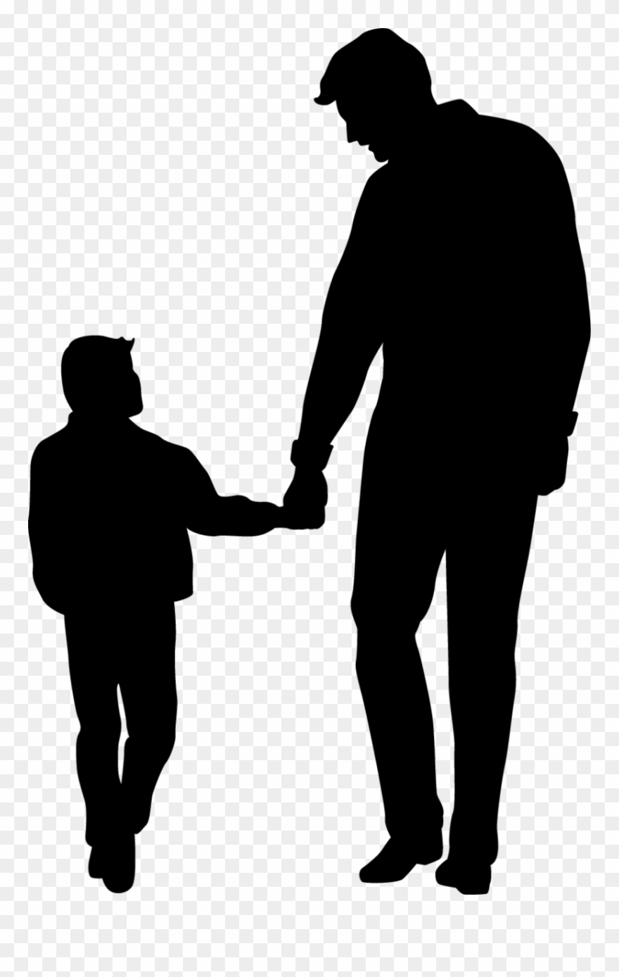 Dad and son clipart svg royalty free stock Father\'s Day Son Clip Art - Father And Son Silhouette Vector - Png ... svg royalty free stock