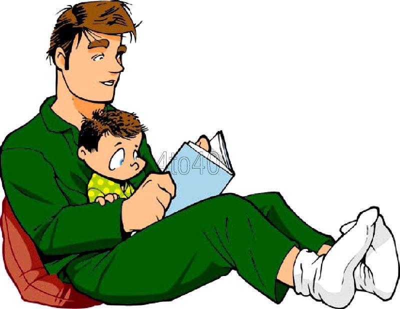 Dad reading book clipart download Clip-art- Dad reading stories | Cool Art | Reading stories, Social ... download
