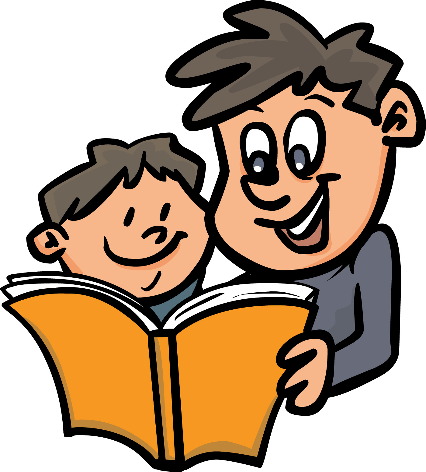 Dad reading book clipart jpg freeuse stock Children Reading The Bible Clipart | Free download best Children ... jpg freeuse stock