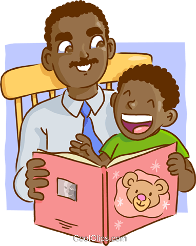 Dad reading book clipart clipart royalty free stock Father and son reading a book Royalty Free Vector Clip Art ... clipart royalty free stock