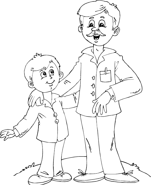 Father drawing at getdrawings. Dad son playing basketball clipart