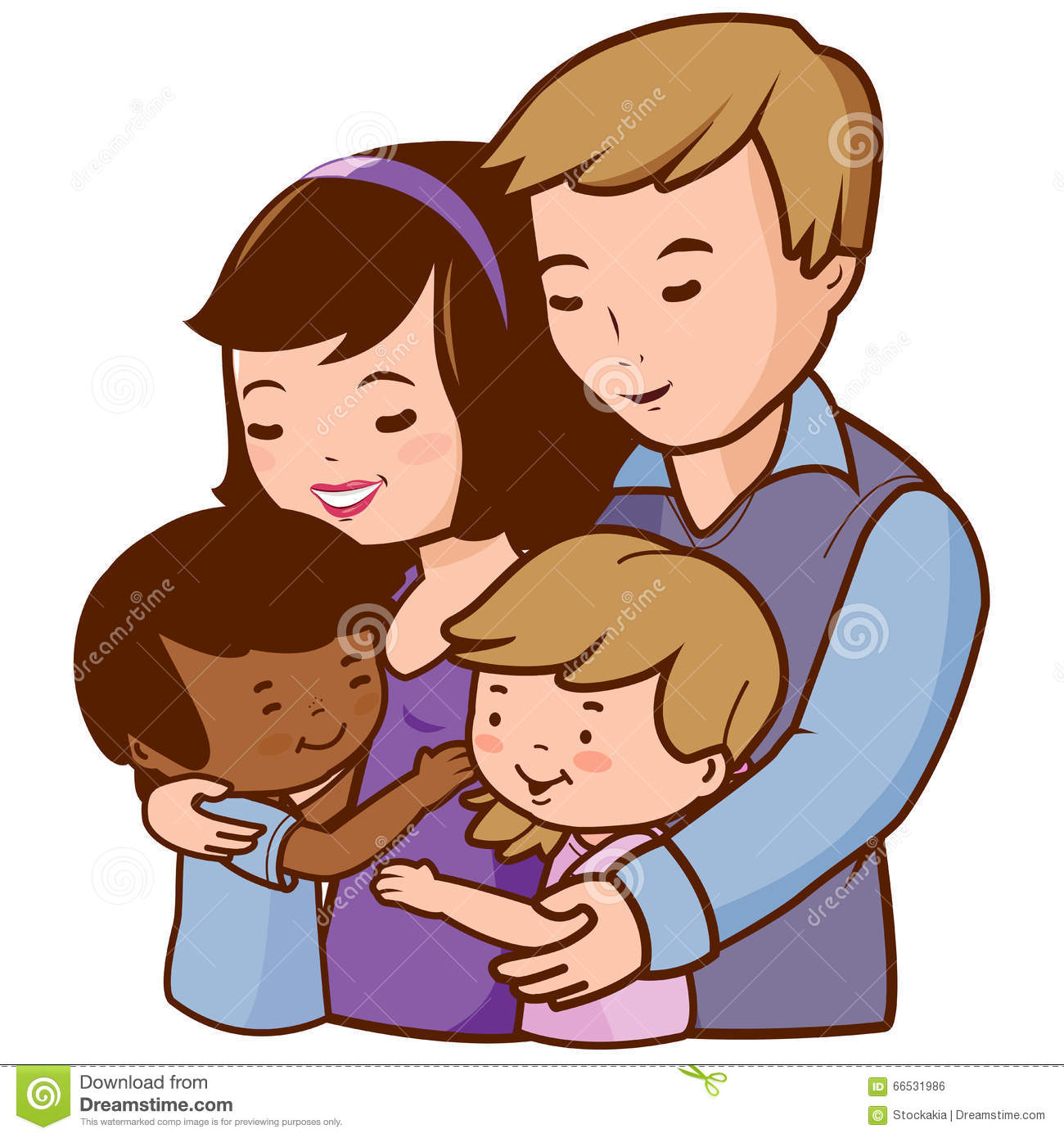 Dad with kids clipart jpg freeuse library Dad hugginh kids clipart - ClipartFest jpg freeuse library